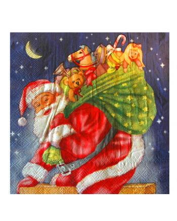 Napkins With Santa Claus Motif