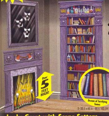Horror Bibliothek Wandfolie