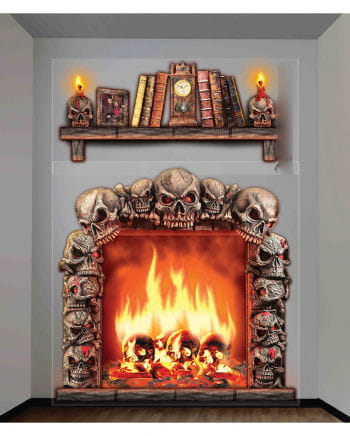 2 Pcs. Halloween Fireplace Room Wallcovering