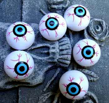 Kunststoff Augäpfel Pongball Augen