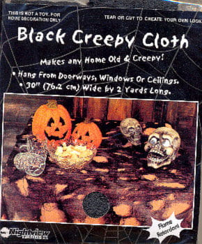 Creepy Table Cloth Black