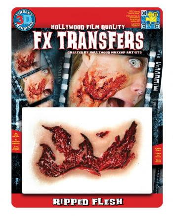 3D FX Transfer Tattoo große Fleischwunde