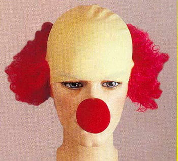 Clown Wig with Hair Assorted Colours
