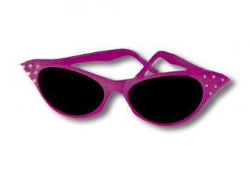 50s Sunglasses Pink with Rhinestones