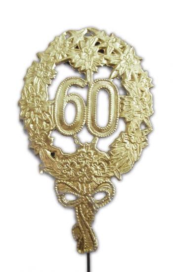 Jubiläums Zahl 60 gold