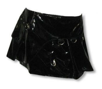 Lack Minirock mit Tasche