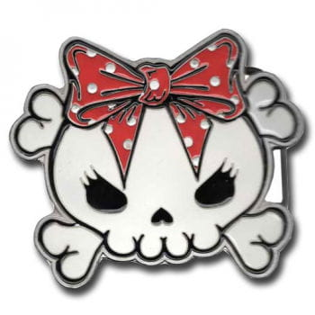 Skullhead Belt Buckle Red