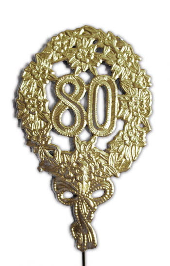 Anniversary number 80 gold