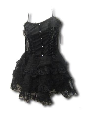 Gothic French Maid Blk Minidress Gr. L XL