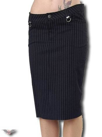 Pinstripe Skirt Knee Length Size 32