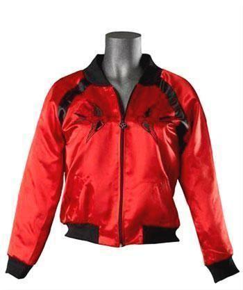 Red satin jacket Gr.XL