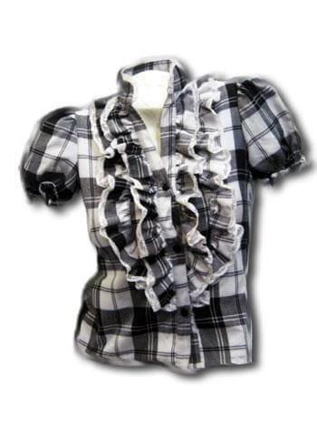 Checked ruffle blouse SZ.S