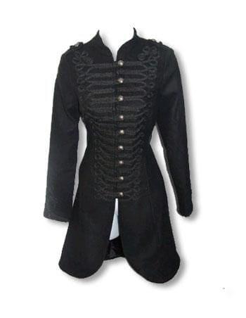 Black Gothic Coat Uniform Style L