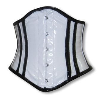 PVC Corset White and Black L