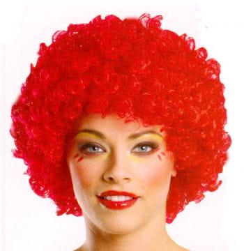 Afro Clown Perücke rot