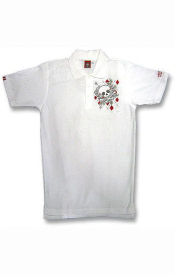 Argyle Diamond And Skull Polo Shirt S