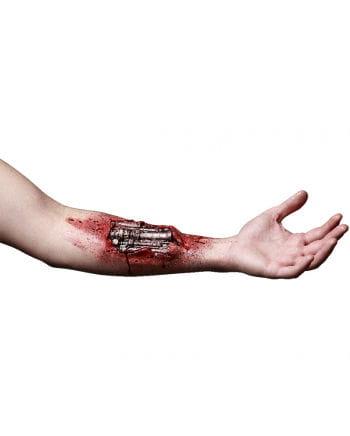 Robotic arm latex wound