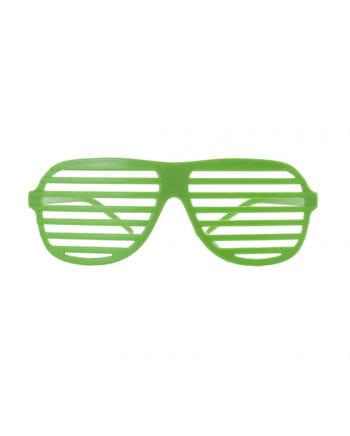 Atzen Brille Neongrün
