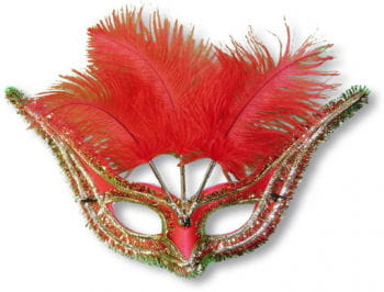 Augenmaske Venezia rot