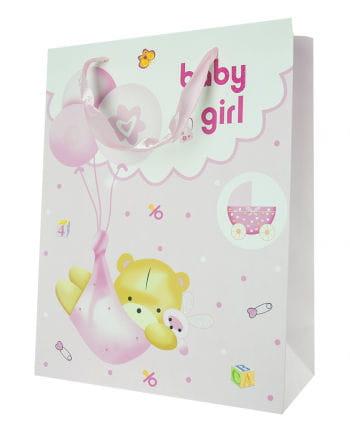 Baby Girl Geschenktasche mit Bär