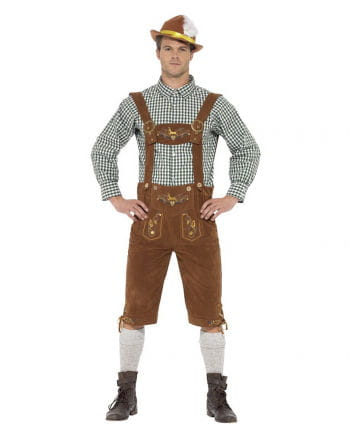 Bavarian Lederhose-Kostüm mit Karohemd