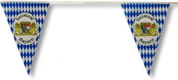 Bayerische Rauten Wimpelkette mit Wappen