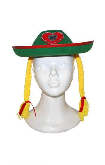 Bayrischer Hut mit Zöpfen