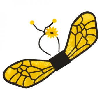 Bienen Flügel mit Haarreif mit Fühler