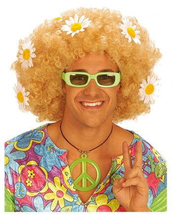 Flowerpower Afro Wig Blonde