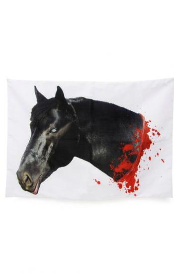 Blutiger Pferdekopf Kissenbezug