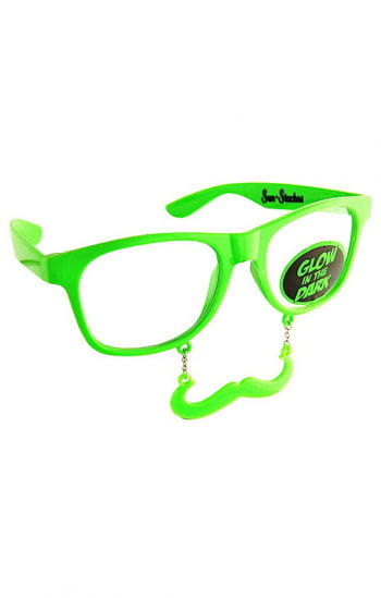 Glow in the Dark Party Glasses with Bart