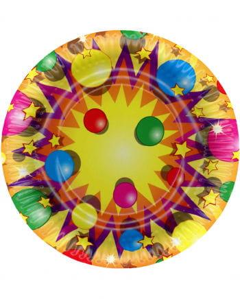 Colorful Party Pappteller large 10 pcs.
