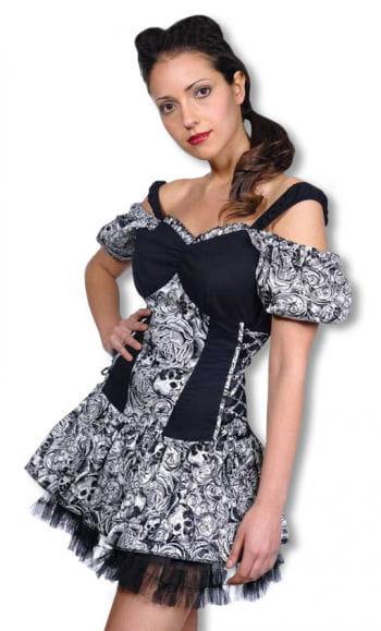Carmen Dress with Tattoo Print