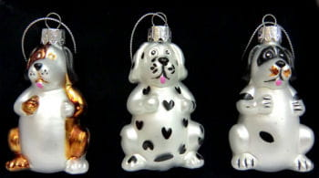 Christmas baubles with dog