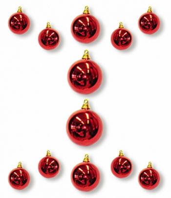 Christmas Ball Ornaments Red 12 PCS