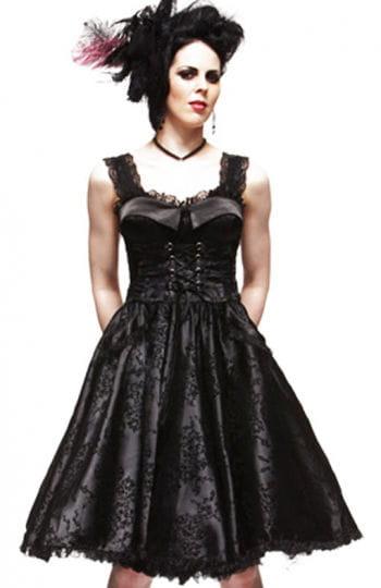 Corsagen Kleid im Lolitastyle Romatik Schwarz L / 40