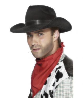 Cowboy Hut mit Hutband schwarz