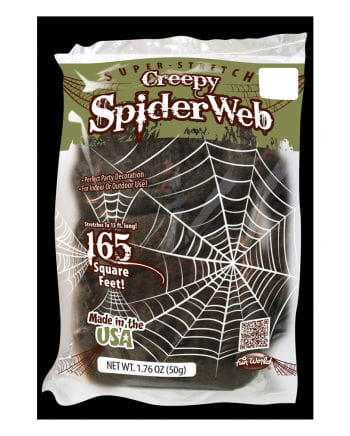 Creepy spider web decoration 50g