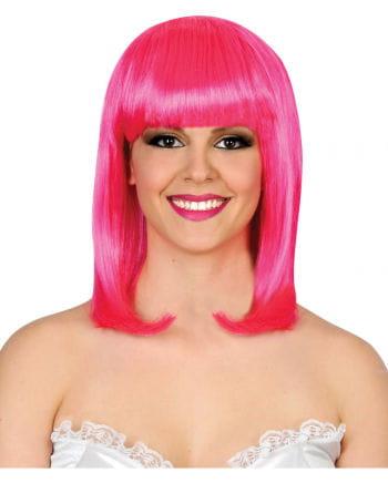 Showgirl Wig with Fringe neonpink