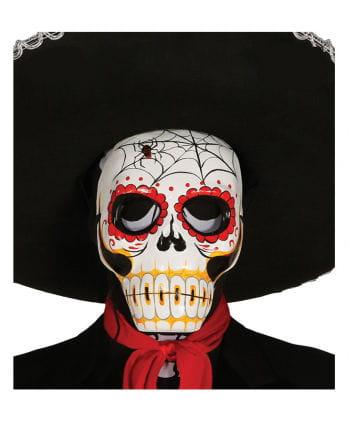 Day of the Dead Maske mit Spinnenmotiv