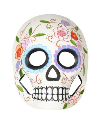 Day of the Dead mask with flowers & vines