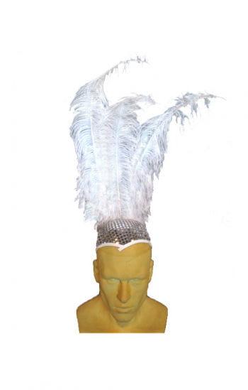 Disco Hut mit Federn
