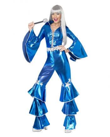 Disco Queen Kostüm blau