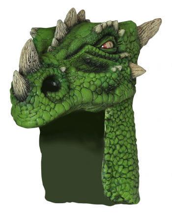 Drachen Helm grün