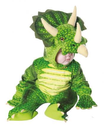 Dreihorn Dino Kinderkostüm Grün M