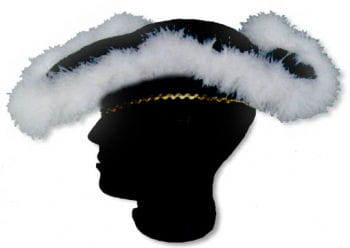 Tricorn with Feather Trimming