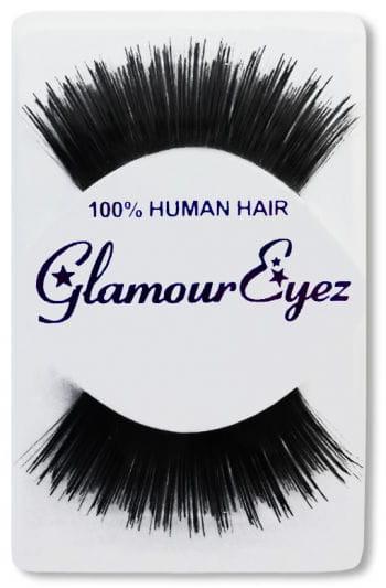 Human Hair Eyelashes Black Layered Long