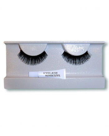 Echthaar Eyelashes Black Small