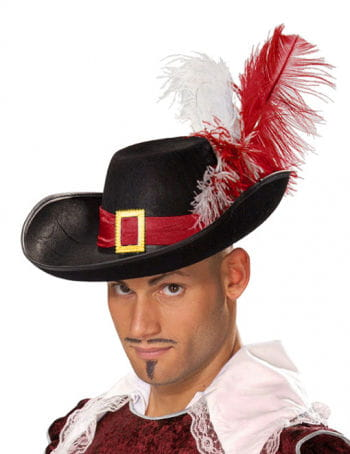 Noble Musketeer Hat With Feathers