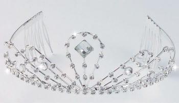 Elegant rhinestone tiara Sissi